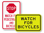 Watch For Bicycle Signs