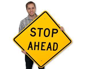 STOP Ahead, Signal Ahead Signs