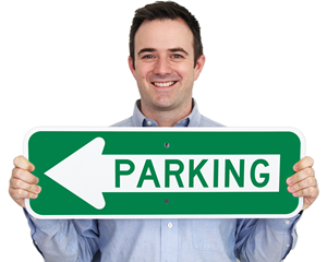 Arrow Parking Sign