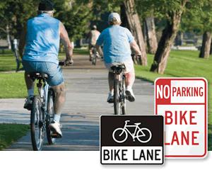Bike lane signs