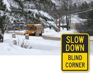 Blind Curve and Blind Corner Signs