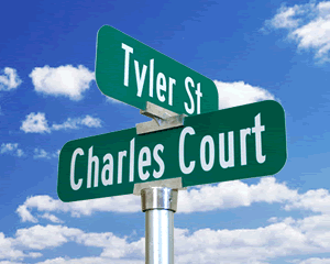 Civic Street Name Signs