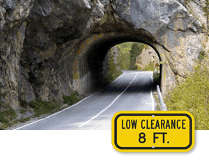 Low Clearance Crossing Signs
