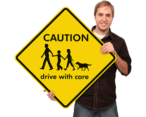 Custom Crossing Signs With Cat and Dog Symbol