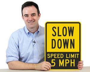 Custom Speed Limit Yellow Designs Signs