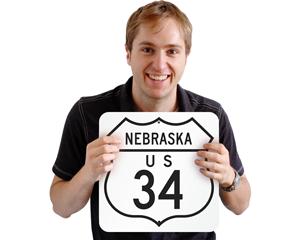 Custom highway sign