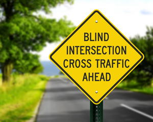 Intersection ahead sign