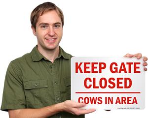 Keep Gate Closed Farm Sign