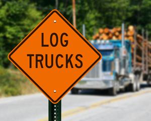 Log truck sign