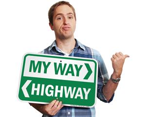 Novelty traffic sign