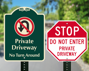 Driveway signs