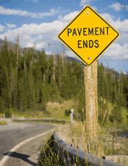 Pavement Ends Road Traffic Signs