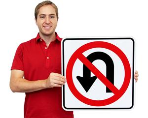 Road Warning Turn Signs