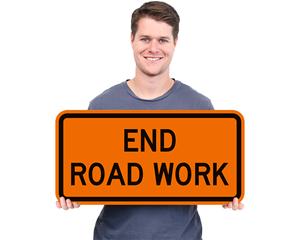 End Road Work Signs