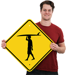 Surfer Crossing Signs