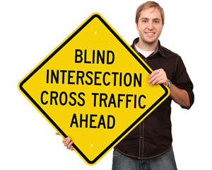Truck crossing sign