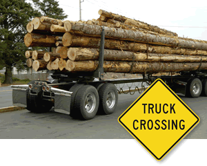 Truck crossing signs