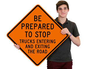 Truck traffic sign