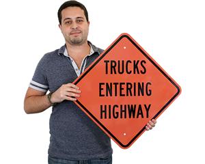 MUTCD Truck Traffic Signs