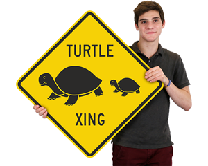 Turtle Xing Crossing Signs