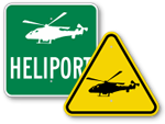 Helicopter Area Signs