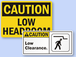 Low Overhead Clearance Signs