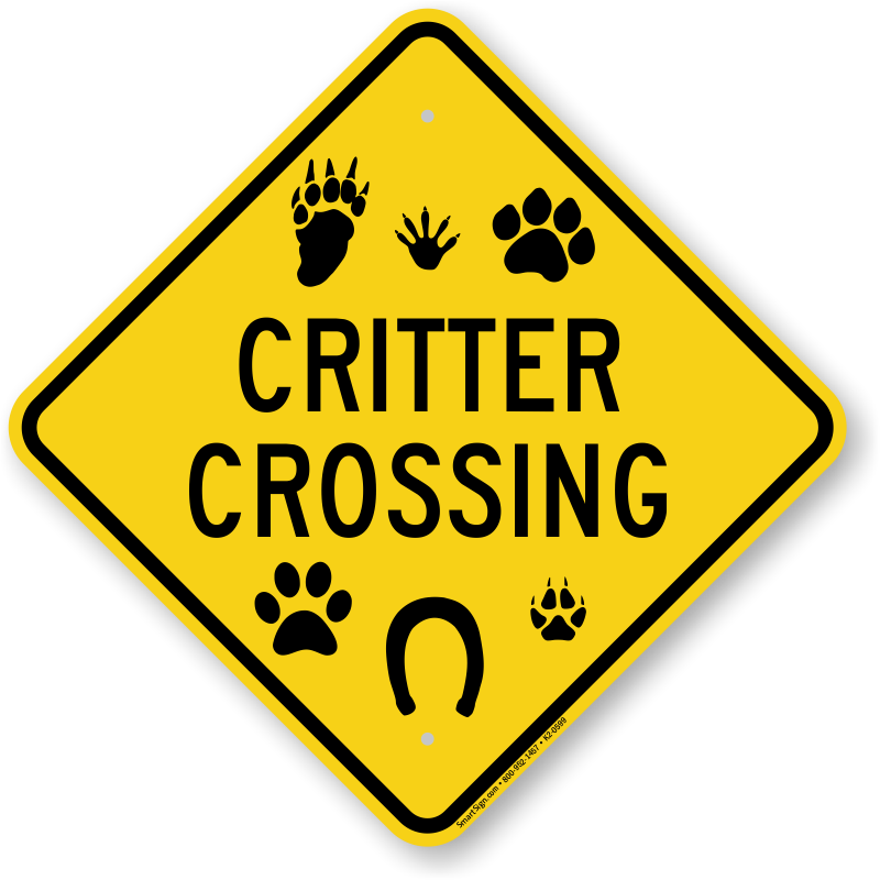 crossing animal signs critter sign zoom roadtrafficsigns