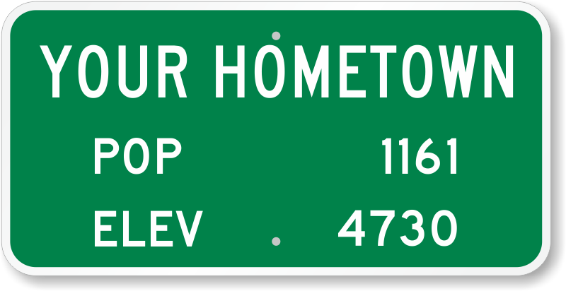 novelty traffic signs just add your text to custom templates