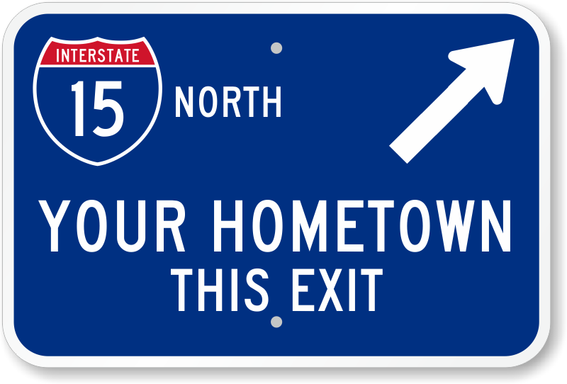 Highway Exit Sign Template Novelty Traffic...