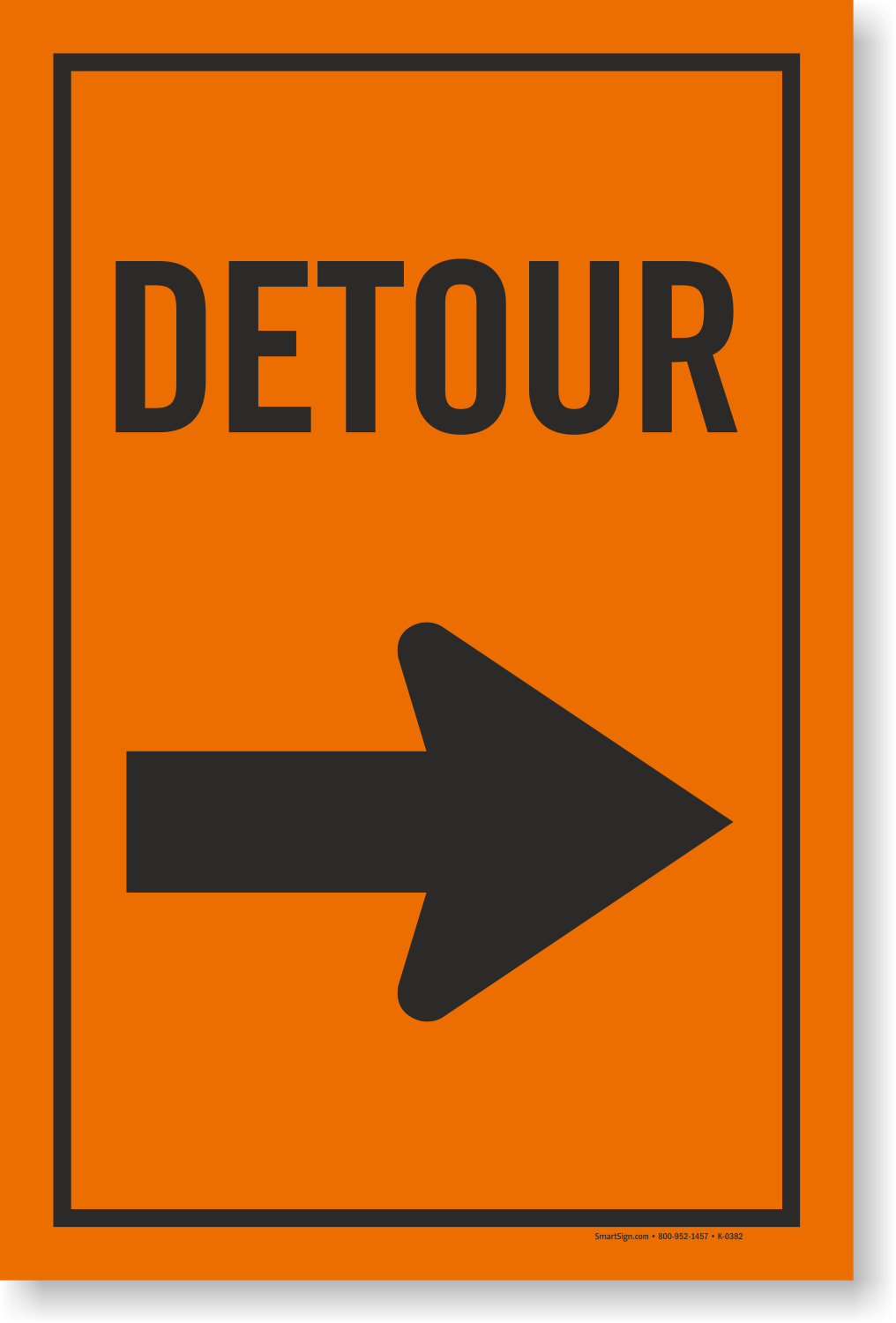 Detour Sign Right Arrow Symbol Signs Low Prices Sku