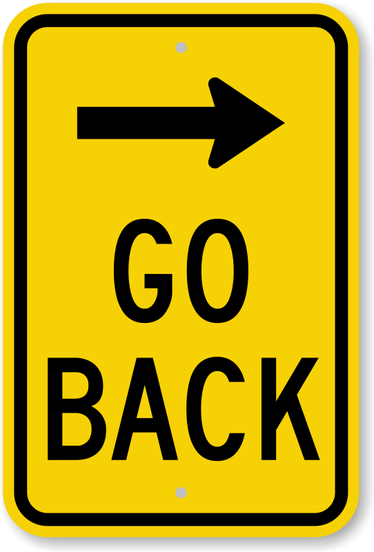 Black arrow sign on yellow background warning of curve road ahead