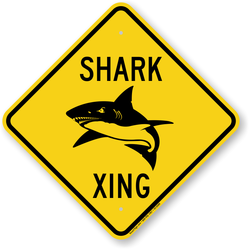 Shark Xing Animal Crossing Sign, SKU: K2-0589