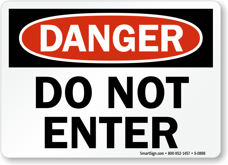 Do Not Enter Signs | Free PDF