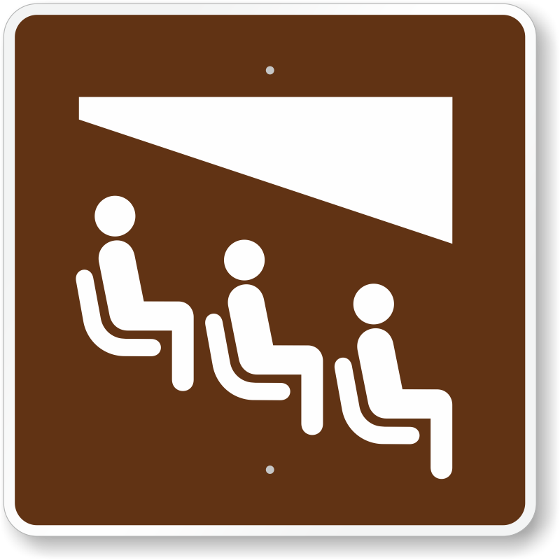 Theater, MUTCD Guide Sign For Campground, SKU: X-RS-109