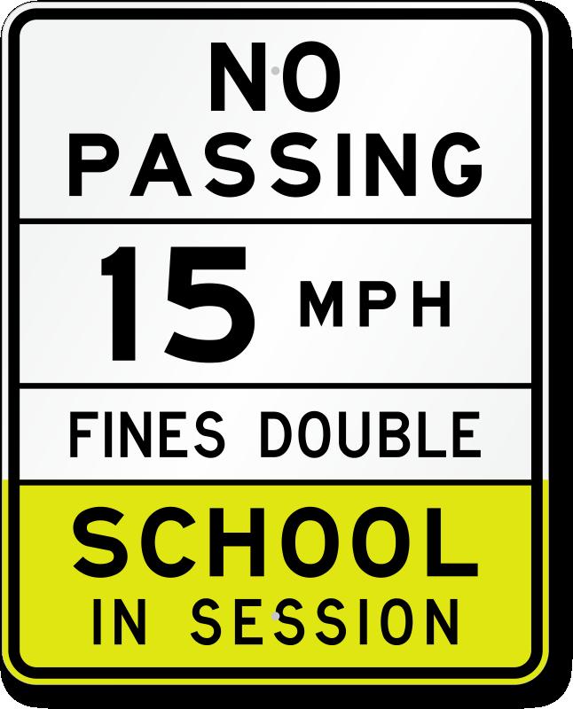 Considering speed bumps in school zones