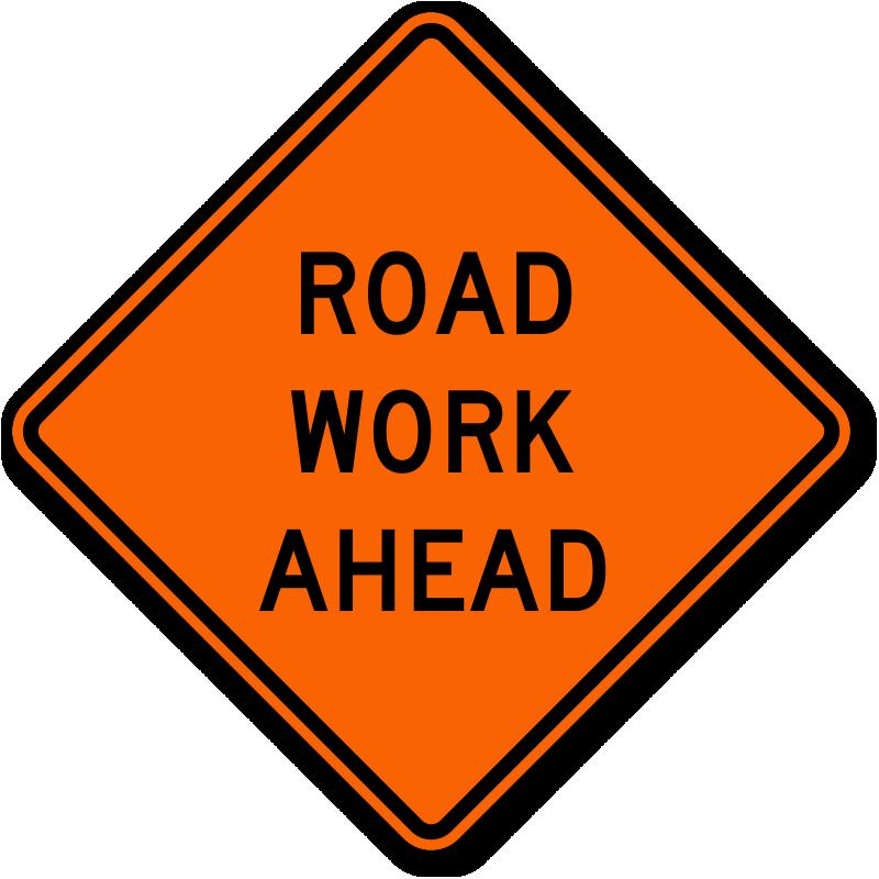 Road Work Ahead - Traffic Sign
