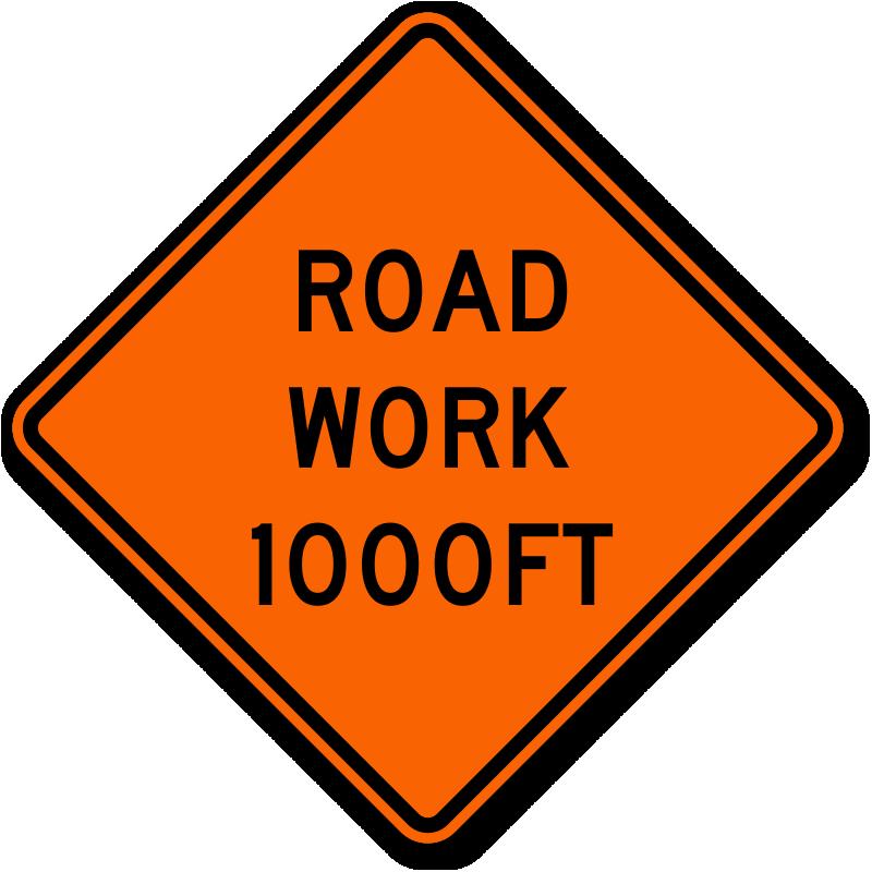 road work traffic sign