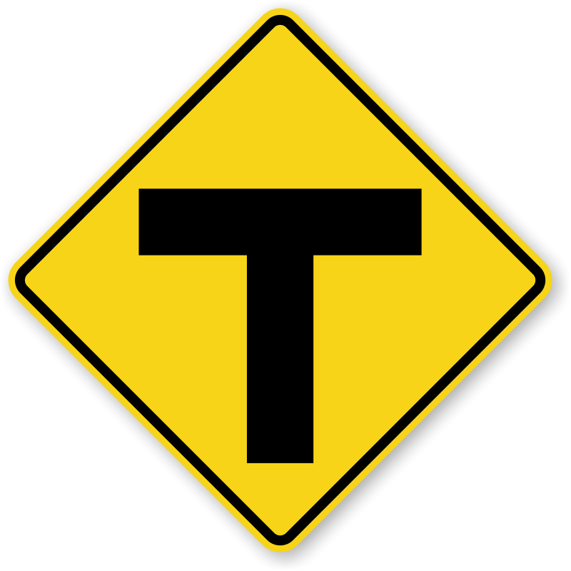 Warning Signs - ...Y Intersection Sign