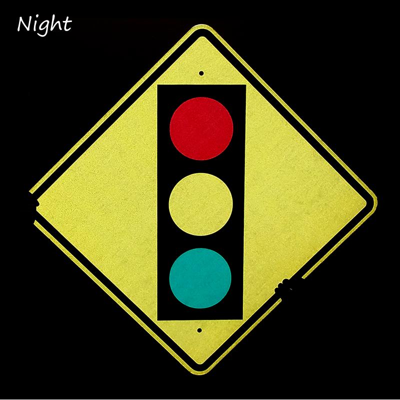 Traffic Light Ahead Sign - W3-3, SKU: X-W3-3
