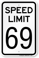Humorous Speed Limit Sign
