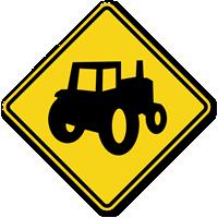 Tractor Symbol - Traffic Sign