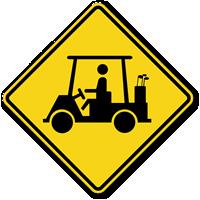 Golf Cart Symbol - Traffic Sign