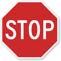 Stop Road Traffic Regulatory Sign