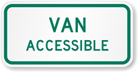 Van Accessible Road Traffic Sign