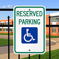 Reserved Parking (handicapped Symbol) Aluminum ADA Handicapped Sign