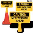 Men Working Ahead ConeBoss Sign