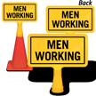Men Working ConeBoss Sign