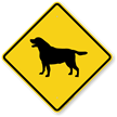 Black Lab Symbol Guard Dog Sign