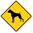 Boxer Symbol Guard Dog Sign