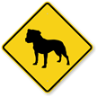 Bull Terrier Symbol Guard Dog Sign